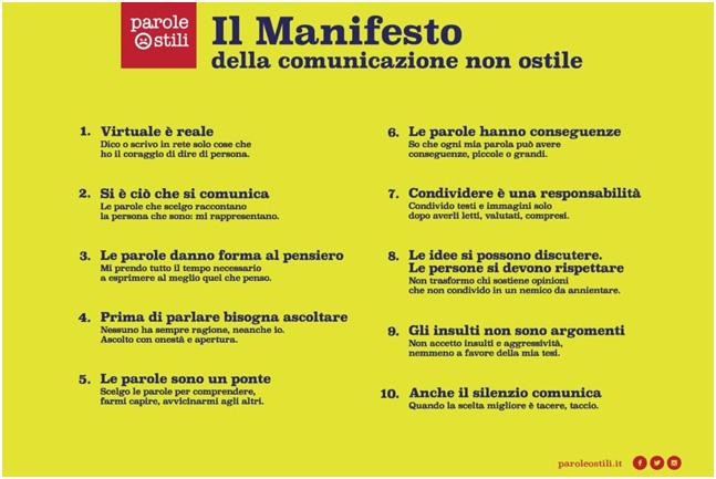 Manifesto bullismo